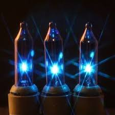 100 blue lights 2 5 inch green wire