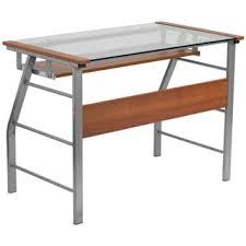 Steel Frame Desk Tempered Glass Top Steel Frame Computer Desk Free Shipping Today