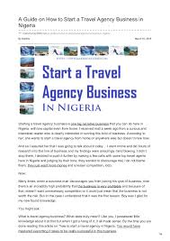 how to start a travel agency images A guide on how to start a travel agency business in nigeria jpg