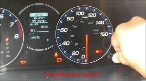 how to reset oil light life 100 acura tsx youtube