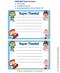 super why thank you cards birthday parties for kids pbs