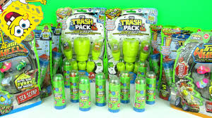 trash pack surprise toys huge pack opening funny spongebob