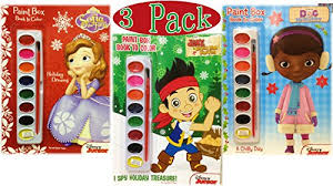 disney junior paint box coloring book christmas holiday 3