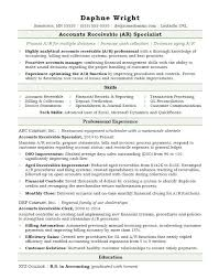 accounting resume template accounts receivable resume sle