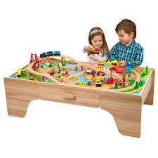 wooden train set table master kd437 shop wooden train set table kidkraft metropolis with