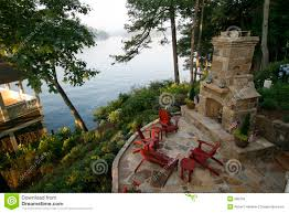 Outdoor Fireplace Patio Outdoor Fireplace And Patio Stock Image Image 996759