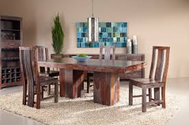 Round Dining Room Table For 6 Zebrano Dining Set With Six Side Chairs