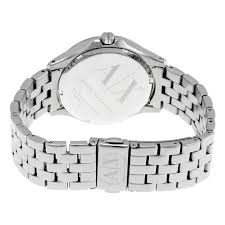 armani silver bracelet ladies images Armani exchange lady hamilton silver quilted dial ladies watch jpg