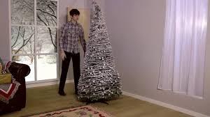 Brylane Home Christmas Decorations Flocked Pop Up Christmas Tree Youtube