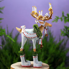 patience brewster dash away reindeer with santa sleigh ornaments