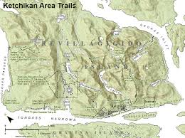 Sitka Alaska Map Ketchikan Alaska Trail Maps