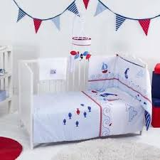 Baby Boy Cot Bedding Sets Kite Baby Boy Cot Cotbed Bedding Set Ships Ahoy Great Quality