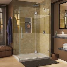 bathroom acrylic shower stalls design with brown wall design also all images