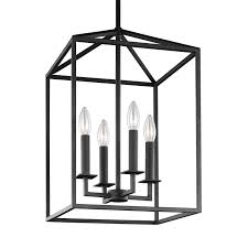 Black Pendant Light Black Lantern Pendant Lighting Bellacor