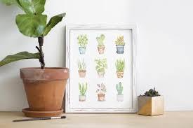 mini plants mini plants watercolor print lilac paperie