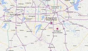 Dallas Fort Worth Metroplex Map by Dallas Tx Limo Service An Elegant Touch Limousine Service