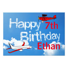 boys birthday airplane birthday invitations announcements zazzle