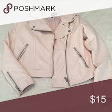 light pink blazer forever 21 forever 21 faux pink leather jacket size small looks expensive