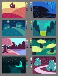 pe painting with a limited colour palette by riemea on deviantart