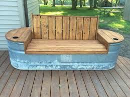 Aff Wood Know More How To Build A Kids Octagon Picnic Table by Garden Bench Made From A Galvanized Stock Tank Projects
