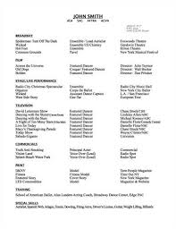 Music Resume Samples by Musical Theatre Resume Examples Lofty Design Ideas Dance Resume