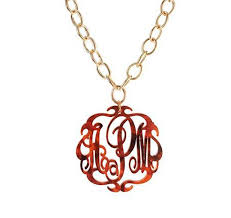 acrylic monogram necklace acrylic monogram necklace chain be monogrammed