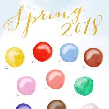 spring color spring 2018 color report color palette no 107 mospens studio