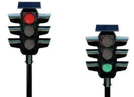 Solar Traffic Light - led traffic signal light png