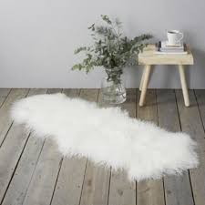 Sheepskin Runner Rug Rugs Cotton Wool Sheepskin U0026 Braided The White Company Uk