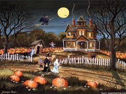 halloween scenic background free computer wallpaper backgrounds country free images download