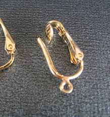 gold clip on earrings clip on earring findings in gold plate convert your earrings