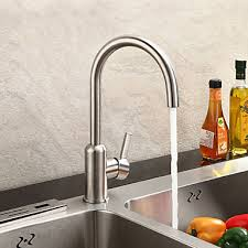 stainless kitchen faucets chrome finish contemporary brushed stainless steel kitchen faucet