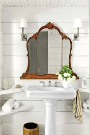 vintage bathroom mirrors small white farmhouse bath with a mirror salvaged from an old