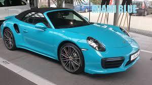 porsche 911 convertible 2018 porsche 911 turbo cabrio miami blue 991 2 2016 exterior and