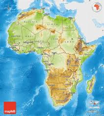 South Africa On Map by Physical Map Of Africa Single Color Outside