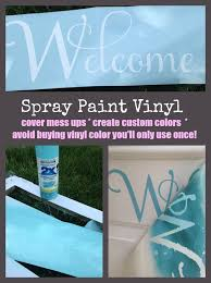 spray paint adhesive vinyl for custom colors silhouette