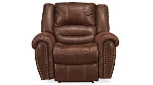 downtown chocolate microfiber power recliner