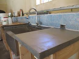 cement countertops how to make poured concrete countertop into place iscareyou com