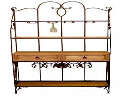 Walmart Wrought Iron Table by Ideas Bakers Rack Walmart Black Bakers Rack Iron Corner