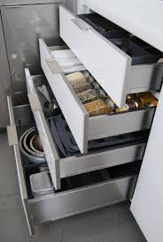 Drawer Kitchen Cabinets stainless steel drawers u0026 roll outs dura supreme cabinetry