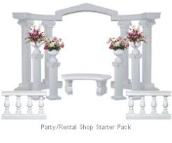 wedding arches and columns wholesale plastic wedding columns and arch starter pack