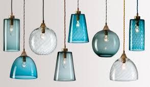 Blue Glass Pendant Light Stylish Flodeau Handblown Glass Lighting Rothschild Bickers 03