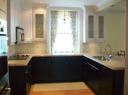 kitchen dark lower cabinets white upper alkamedia com