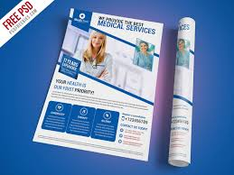 medical services flyer template free psd psdfreebies com