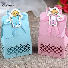 baby shower decorations boys ourwarm 12pcs baby shower candy box gift bag paper for baby