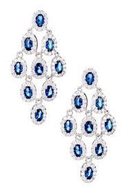 blue chandelier earrings maurice jewelry white diamond chandelier earrings