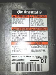 swift airbag 95640 38910 71l00 continental 5wk44239