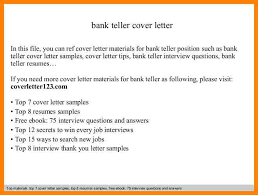 cover letter for a bank teller bank teller cover letter in this