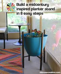 build a midcentury inspired planter stand in 8 easy steps retro