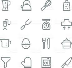 kitchen utensils icons line set 1 stock vector art 511869608 istock